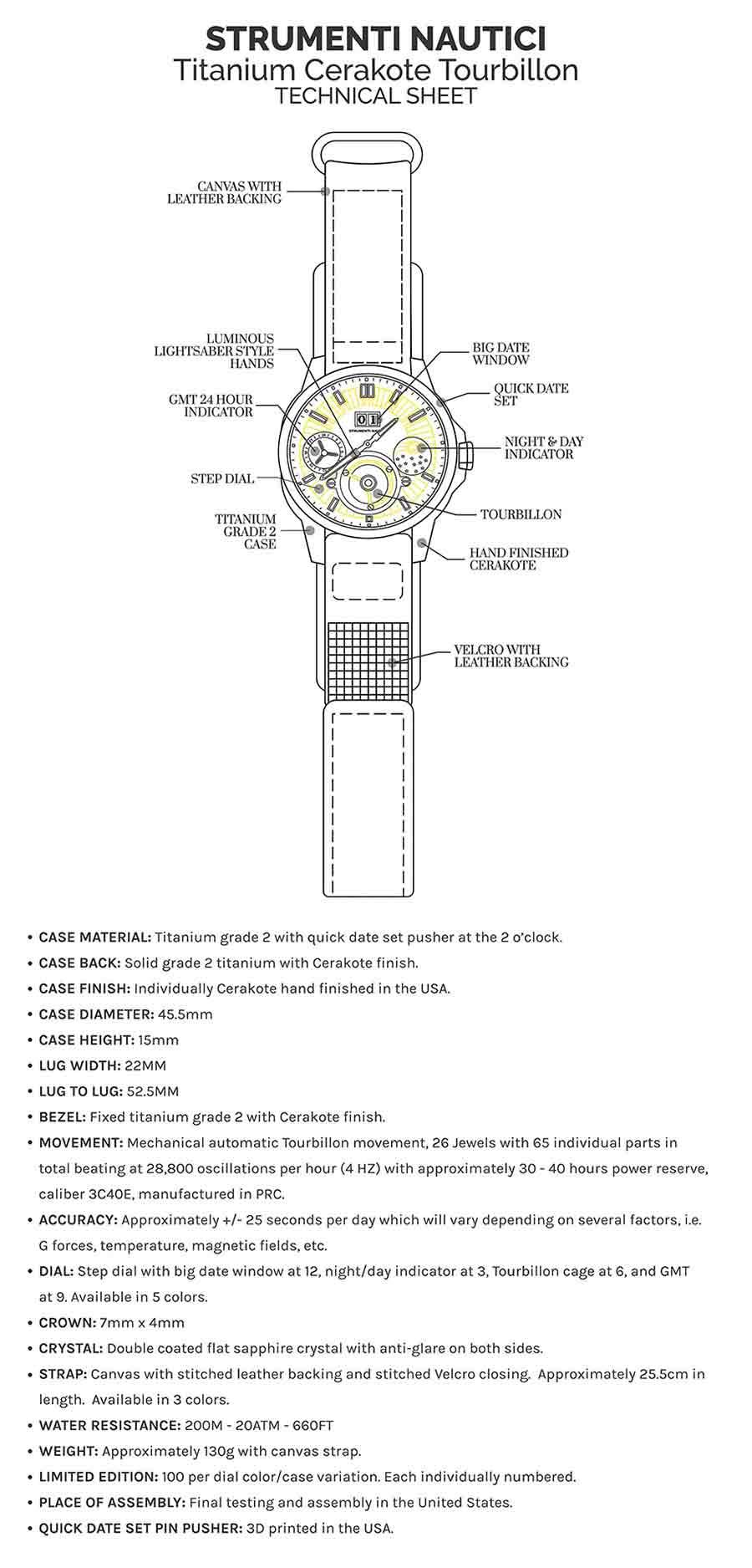4 Strumenti Nautici Automatic Tourbillon Titanium Cerakote Watch