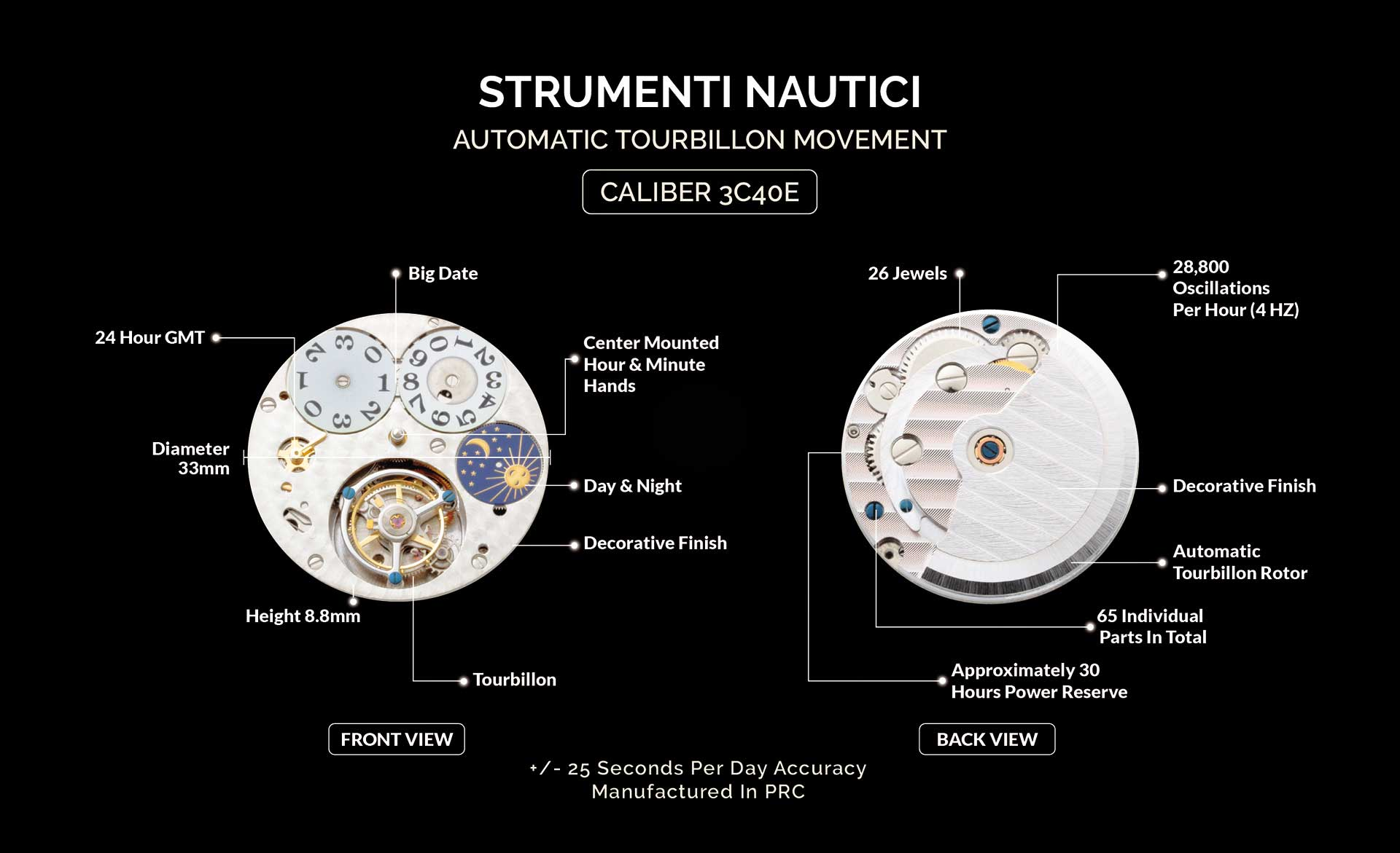 8 Strumenti Nautici Automatic Tourbillon Watch